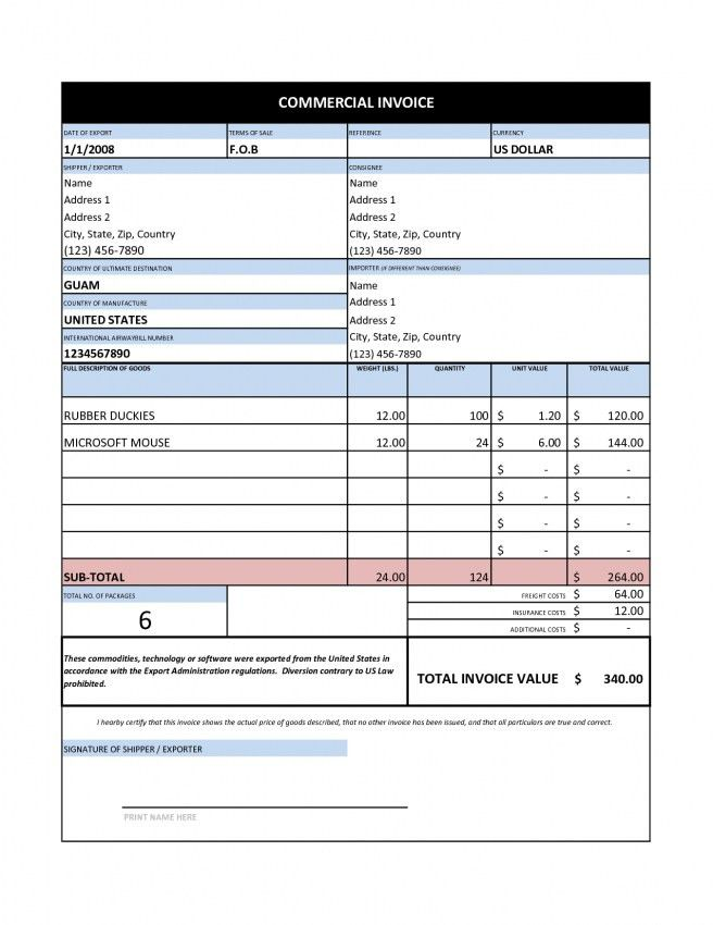 Commercial Invoice Template Uk Free | Design Invoice Template