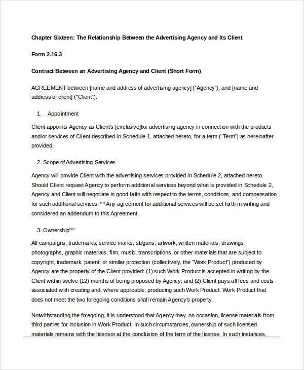 Sample Advertising Contract Template. 3; 4 Paul Social Media ...