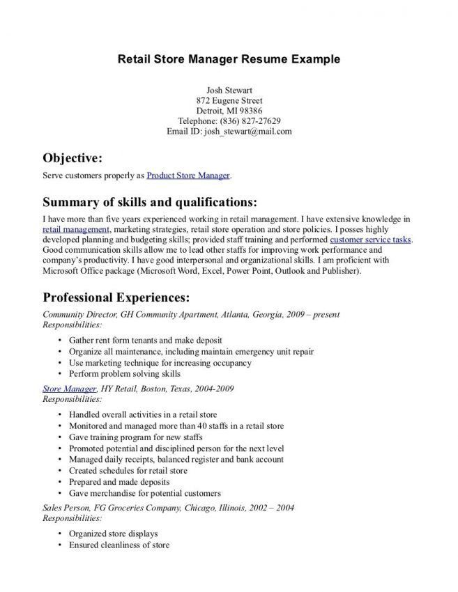 8 Resume Ideas For Retail Resume resume objective ideas for retail ...