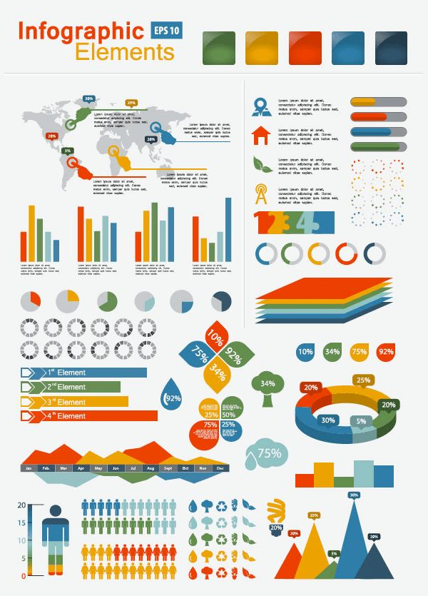 13 Best Free Infographic Sets | Creative Beacon