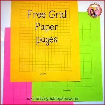 Free Grid Paper Templates by Nyla's Crafty Teaching | TpT