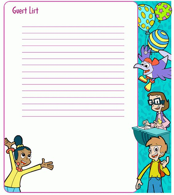 Cyberchase Birthday Party: Guest List . PBS Parents