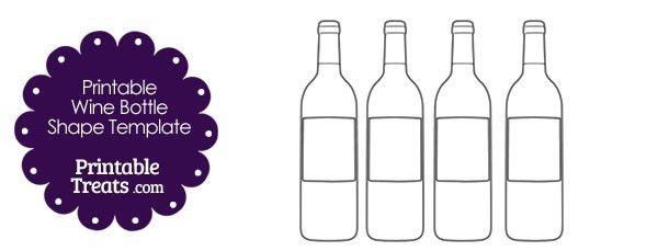 Printable Wine Bottle Shape Template — Printable Treats.com