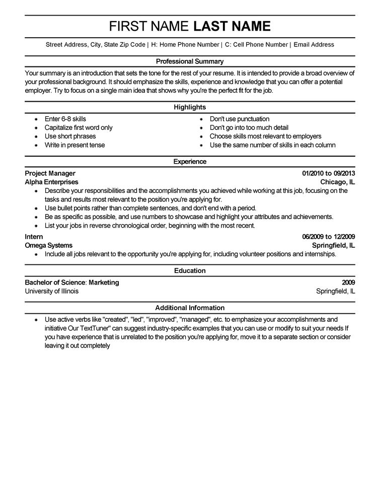 Professional 1 Resume Templates to Impress Any Employer | LiveCareer