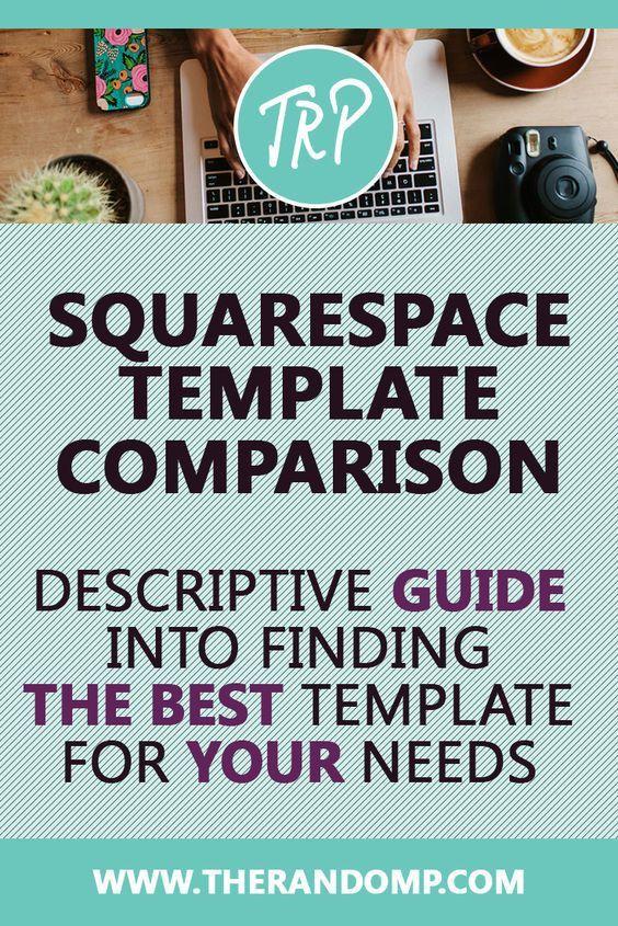 Squarespace template comparison | Seo, Branding website and ...