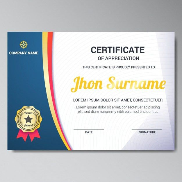 Certificate Design Vectors, Photos and PSD files | Free Download