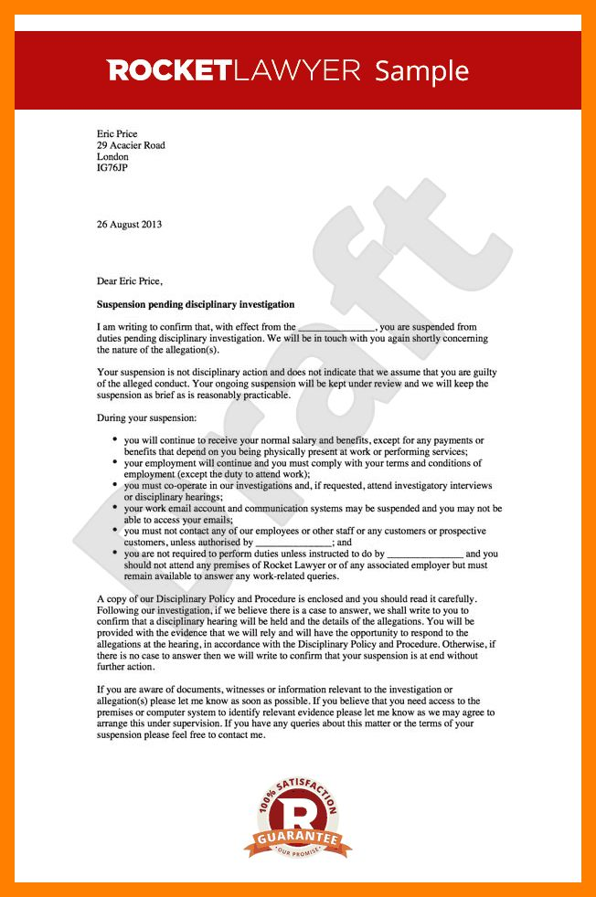 8+ sample suspension letter | resumes great