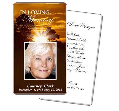 obituary cards