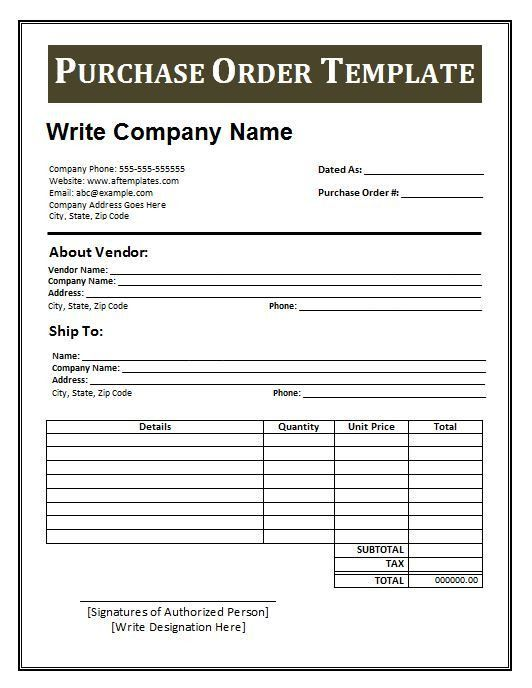 Purchase Invoice Template. Preview Invoice Template As Picture ...