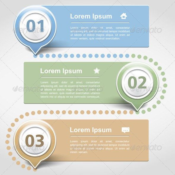Design Template with Three Banners by _human | GraphicRiver