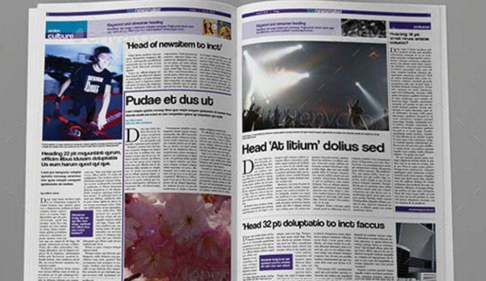 6 Free Indesign Newspaper Templates | AF Templates