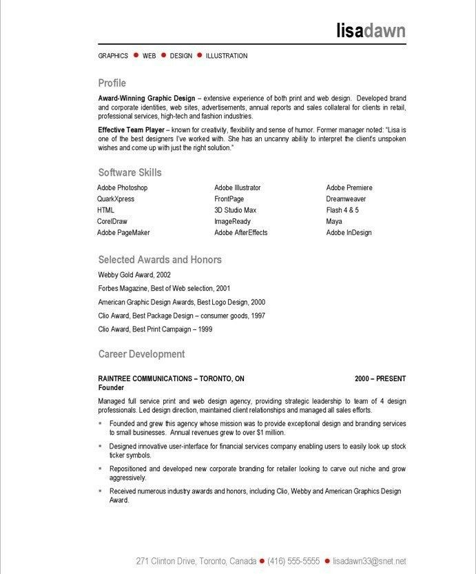 Fashion Designer Resume Sample - Contegri.com