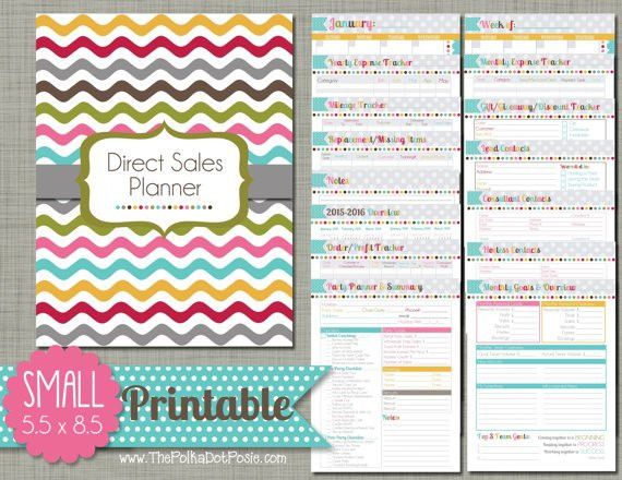 Direct Sales Planner Printable Set Sized Small 5.5 x