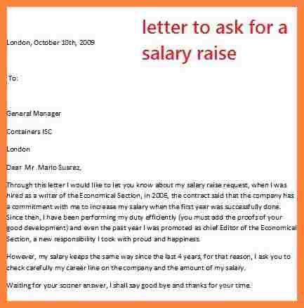 Salary Increase Request Sample Letter Salary Increase Letter – Merit Increase Letter Template