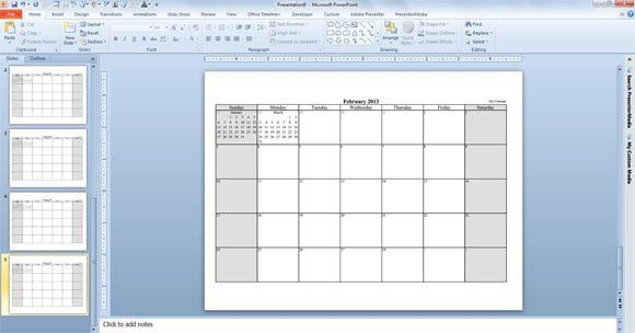 powerpoint calendar templates 2016 interactive calendar a ...