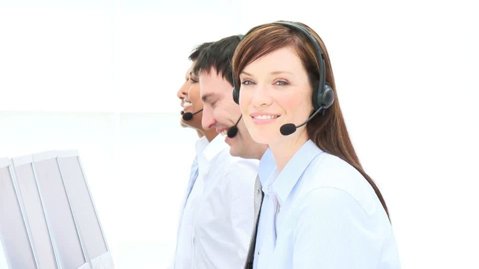Team / Telemarketing / Office Work | HD Stock Video 829-354-120 ...