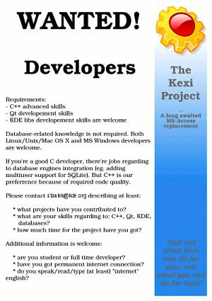 "Kexi Project - ""Microsoft Access for Linux"" - Development"