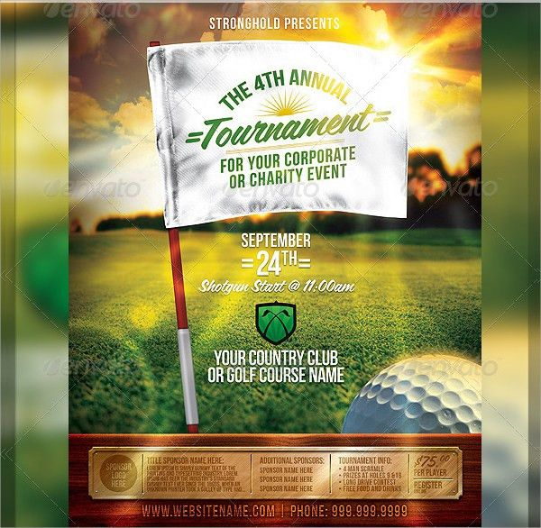 Golf Tournament Flyer Template - 20+ Download In Vector EPS, PSD