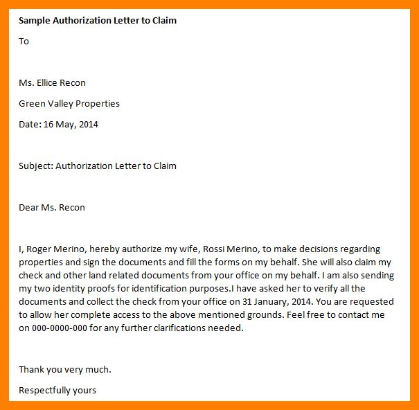 8+ sample authorization letter to claim money | handy man resume
