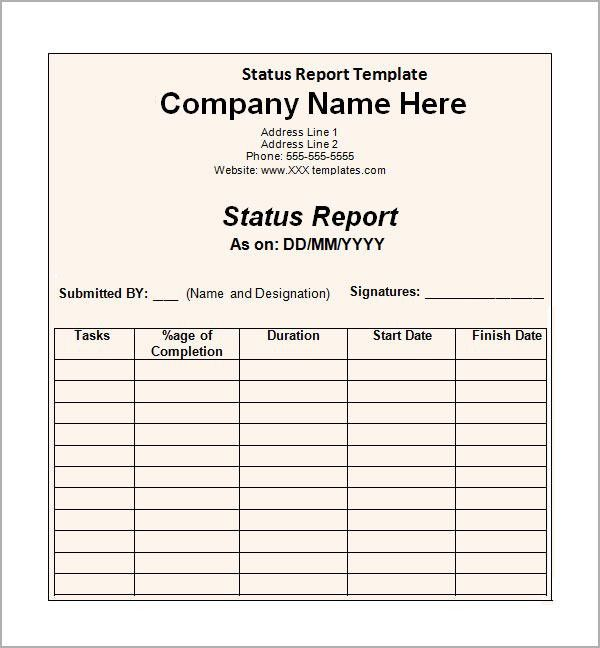 Sample Status Report   6+ Documents In Word, PDF, PPT  Monthly Status Report Template Word