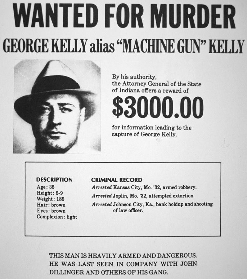 Wanted Poster For Machine Gun Kelly Painting by American School