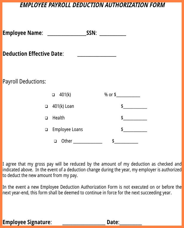 9+ free employee payroll deduction authorization form | Securitas ...