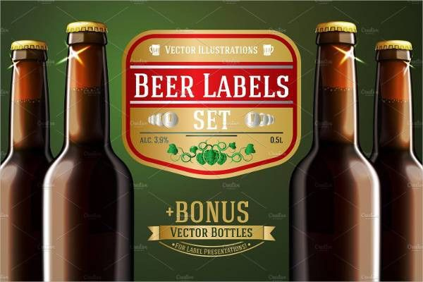6+ Beer Bottle Label Templates - Design, Templates | Free ...