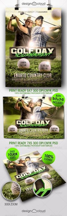 Golf Event Flyer Template PSD | Buy and Download: http ...