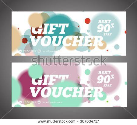Gift Voucher Design Template Discount Voucher Stock Vector ...