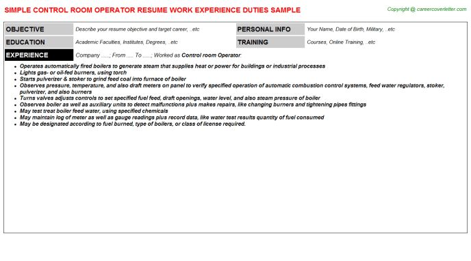Concrete Pump Operator Sample Resume Concrete Pump Operator Cv Work - boiler plant operator sample resume