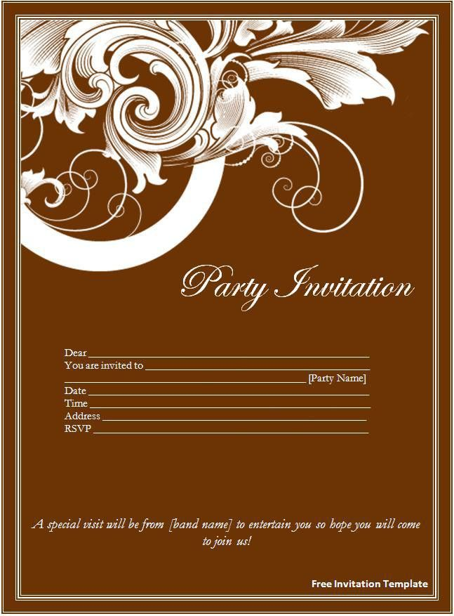 wedding invitation card template word free wedding invitation ...