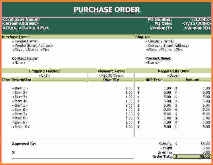 purchase order template excel - Sales Report Template