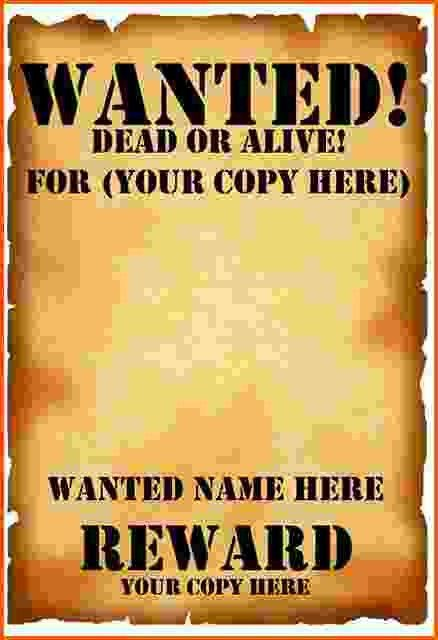 12+ wanted poster template | Survey Template Words