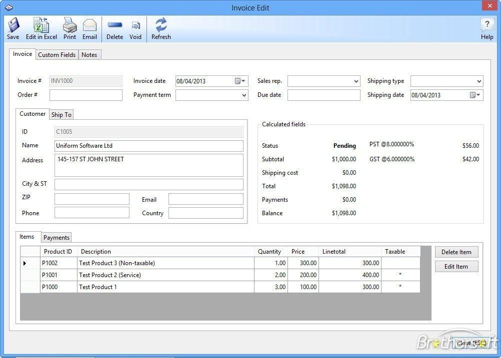 Download Free Uniform Invoice Software Net, Uniform Invoice ...