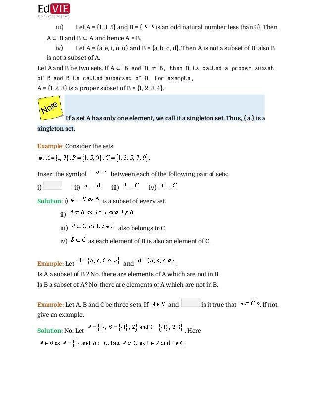 CBSE Class X - Mathematics Set Theory Topic