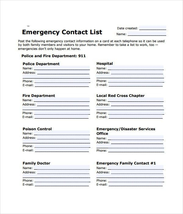 Contact List Template. Contact List Template List Templates - 21+ ...
