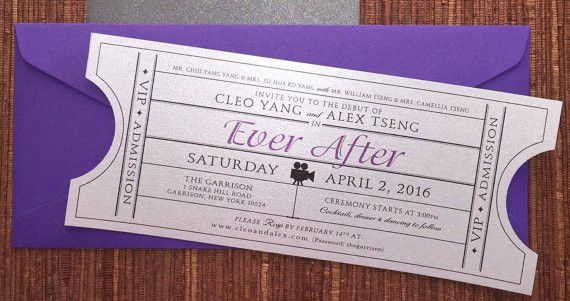 Vintage Invitation Ticket / DIY Printable PDF / Wedding