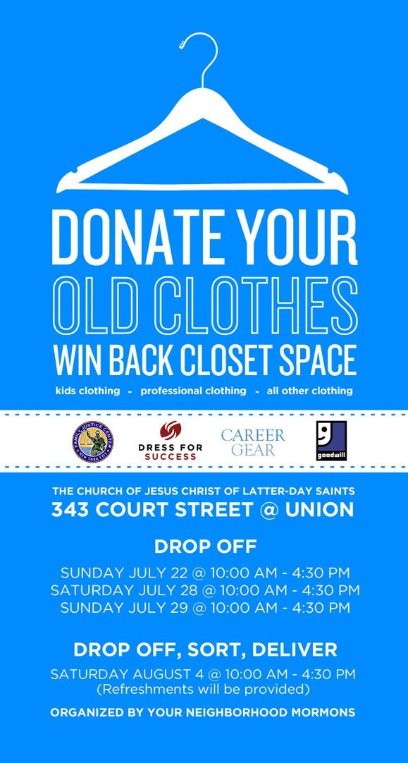 10 Best Images of Clothing Drive Poster - Clothing Drive Flyer ...