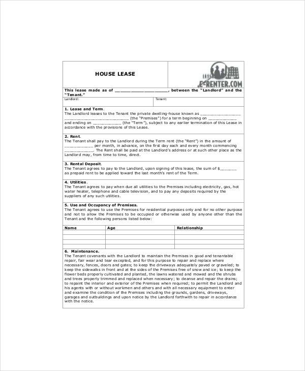 Lease Templates [Resume.characterworld.co ]