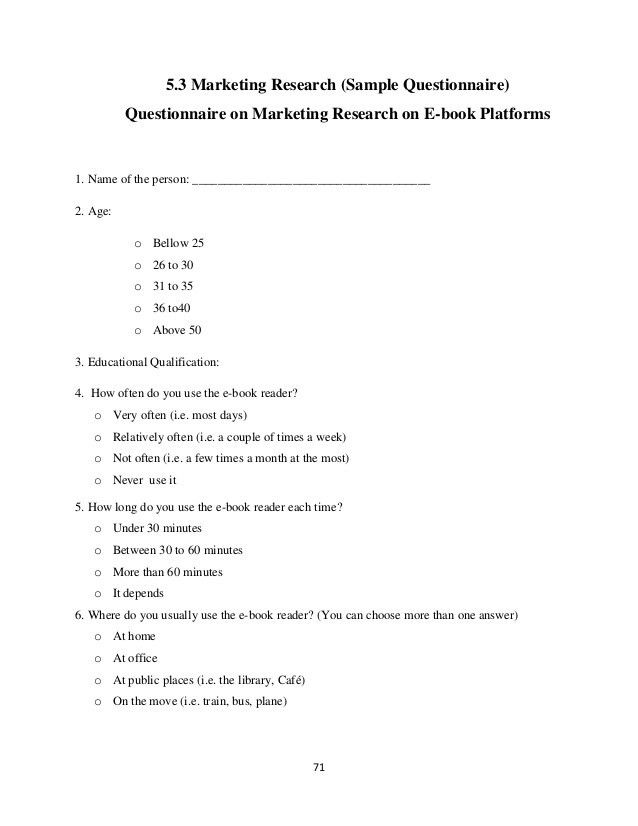 Marketing Research On E-book Platforms