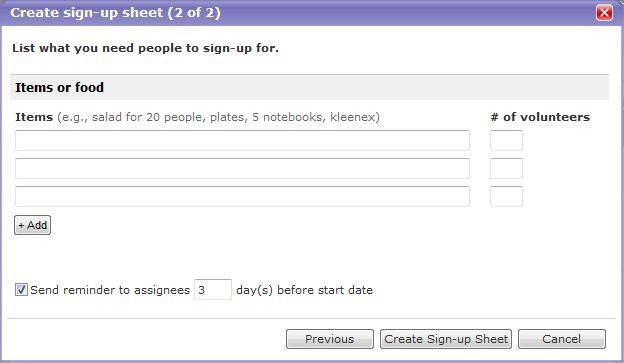 Sign Up Sheet Template Pages - Template Examples