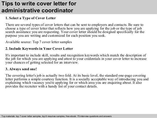 Stylish Design Ideas Administrative Coordinator Cover Letter 14 ...