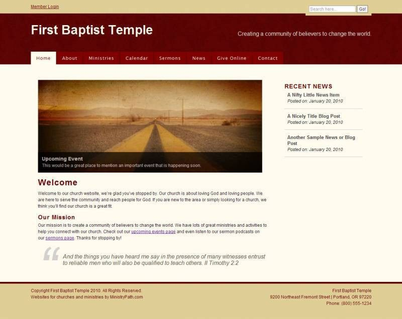 Free Church Website Templates | Church and Ministry Website ...
