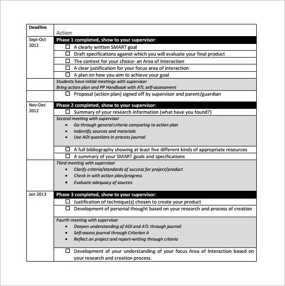 Project Action Plan Template – 5+ Free Sample, Example, Format ...