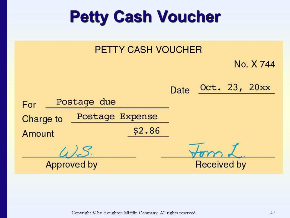 Petty Cash Voucher Definition - cv01.billybullock.us