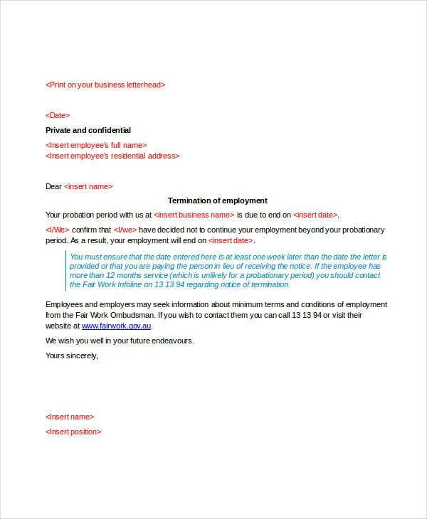 Termination Letter Doc Templates - 24+ Free Word, PDF Documents ...