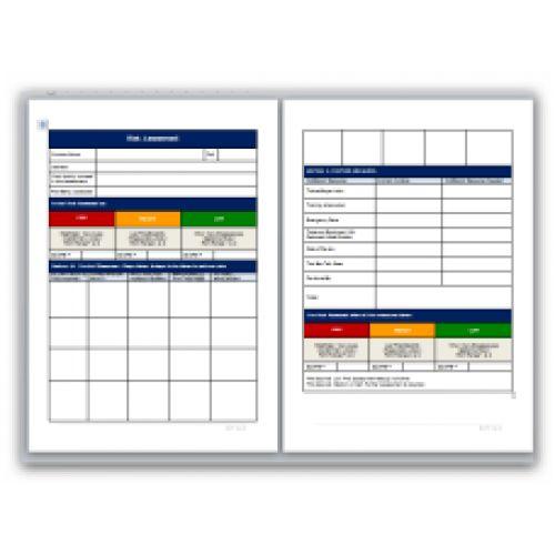 blank risk assessment template free