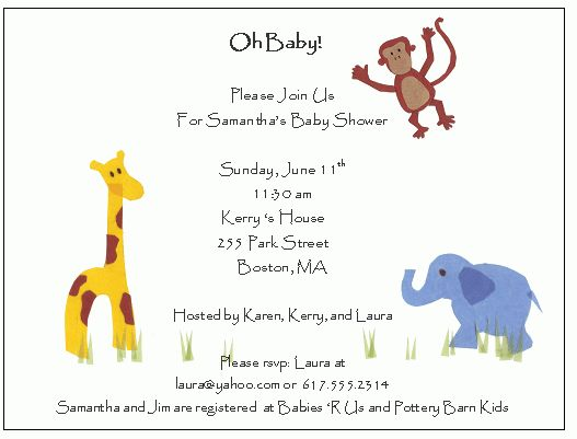 How To Word A Baby Shower Invitation - iidaemilia.Com