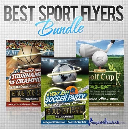 13 Free PSD Flyer Templates Sports Images - Football Flyers ...
