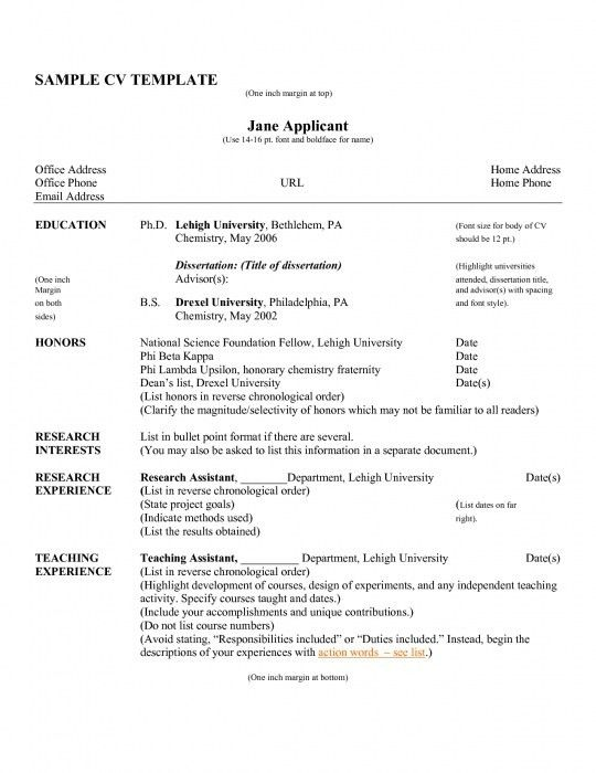 The Most Elegant Resume Curriculum Vitae Format | Resume Format Web
